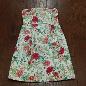 Old Navy strapless floral dress